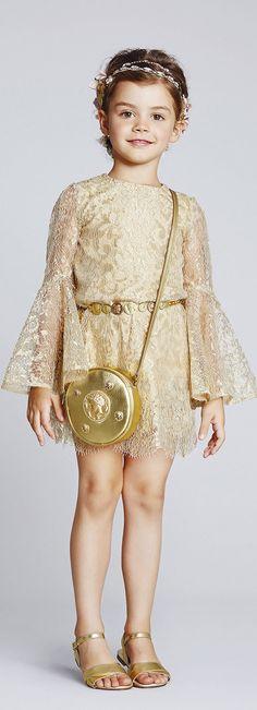 Dolce & Gabbana, Spring/Summer 2014, Child, Gold,