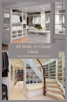 These 44 walk in closets will leave you in awe (photo gallery) Walk In Closet Design, Closet Designs, Remodeling Mobile Homes, Home Remodeling, Small Living Rooms, Home And Living, New Homes, Tiny Homes, Dream Homes
