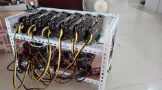 The rack of Ethereum miner with four LED fans. The rack of Ethereum miner with four LED fans 1PC. Rack size: 55cm(L) 35cm(W) 35cm(H). DHL Or another fast service. | eBay!