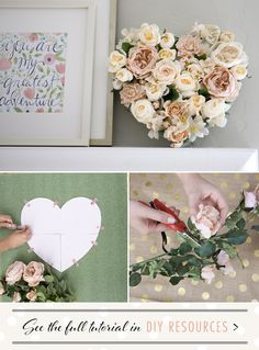 DIY floral heart project | DIY Wedding, Flowers + Greenery | 100 Layer Cake