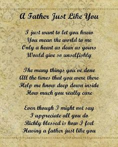 Happy Father's Day Quotes, Messages, Sayings & Cards Happy Father's Day Poems and Wishes 2015 Happy Fathers Day Poems, Fathers Day Quotes, Fathers Day Cards, Father Poems From Daughter, Happy Birthday Dad From Daughter, Daddy Poems, Happy Birthday Mom Quotes, Grandma Birthday, Poems About Fathers