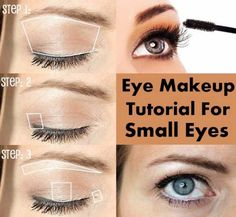 Makeup Tutorials For Small Eyes - Eye Makeup Tutorial for Small Eyes - Easy Step By Step Guides On How to Apply Eyeliner and Get Perfect Lashes and Brows and How To Make Your Eyes Look Bigger - Beauty Tips for All Different Faces - Eyebrows and Cut Crease Youtube Videos for Girls - thegoddess.com/makeup-tutorials-small-eyes