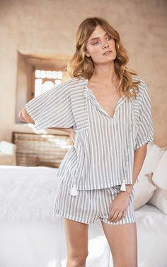 The White Company Multistripe Pajama Shorts Cute Sleepwear, Sleepwear Women, Pajamas Women, Night Suit, Night Gown, Pajama Top, Pajama Shorts, Striped Pyjamas, Cute Pajamas