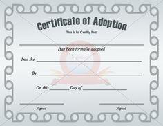 fake adoption certificate | fake certificate | Pinterest ...
