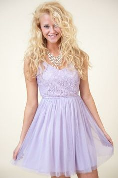 cute hair  Daydream Dress-Lilac