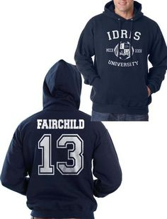 5b65696b22aa5 Fairchild 13 Idris University Unisex Pullover Hoodie Navy - Meh. Geek - 1  Crew Neck