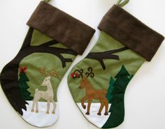 Mr. and Mrs. Personalized  Christmas Stockings, Stocking Set for Couple, His and Hers stockings, First Christmas by HeartfeltStockings on Etsy https://www.etsy.com/listing/112223960/mr-and-mrs-personalized-christmas