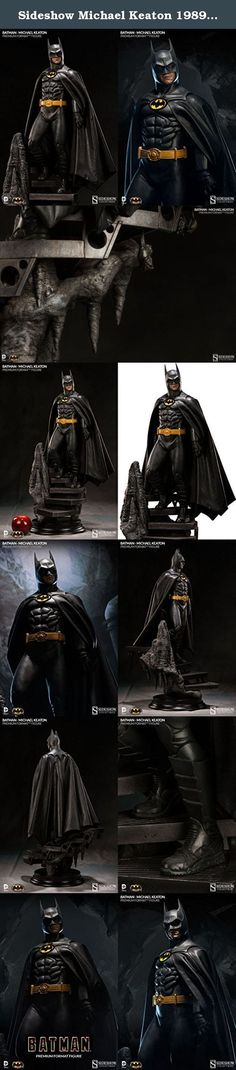 """Sideshow Michael Keaton 1989 Batman Film Version Premium Format Figure Statue. """"I want you to tell all your friends about me... I'm Batman."""" From Warner Bros. groundbreaking film, directed by Tim Burton, Sideshow Collectibles is proud to present the Michael Keaton 1989 Film Version Batman Premium Format(TM) Figure. Beneath the vast estate of Wayne Manor, millionaire industrialist Bruce Wayne transforms into his crime-fighting alter ego, and descends an iron staircase inhabited by bats…"""