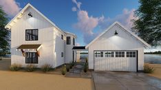 Country Farmhouse Traditional House Plan 44180 Elevation
