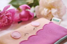 Lavender fairy woolfelt pourse by HoneybearcraftsShop on Etsy