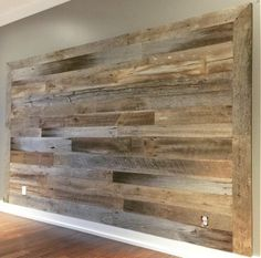Grey / Brown Mix Accent Wall