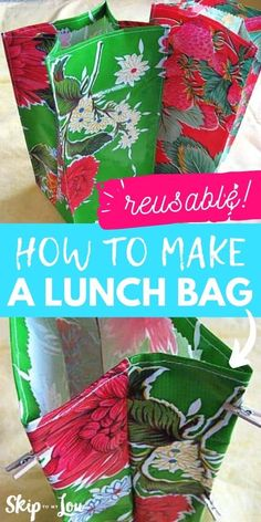 reusable diy lunch bag PIN