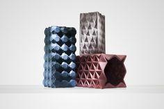 Grid vases by Tom Dixon