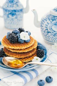 Blueberry waffles...