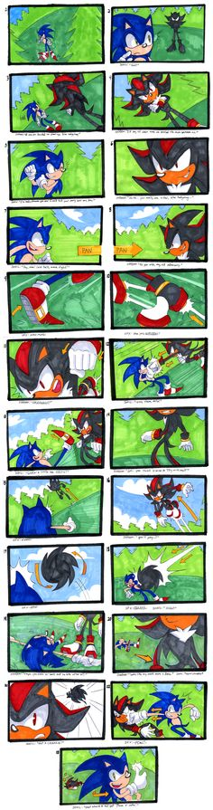 Sonic VS Shadow-Storyboard by SonicRocksMySocks.deviantart.com on @deviantART