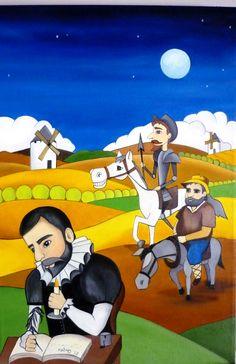 Quijote joven  60x40 cms  Óleo sobre lienzo
