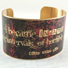 Edgar Allan Poe Jewelry  Insane and Sanity by JezebelCharms, $40.00