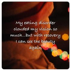 ED recovery is scary and beautiful. You are worthy of recovery. #eatingdisorders #EDrecovery