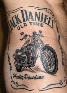 tattoo men on harley | Tatoo Harley Et Jack Daniels