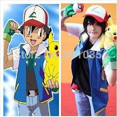 >> Click to Buy << FREE SHIPPING  Wholesale! 2015 new Pokemon Ash Ketchum Trainer Costume Cosplay for man and woman Jacket +gloves+hat size xs-3xl #Affiliate