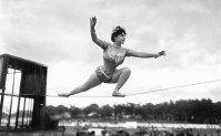 circus tightrope walker vintage