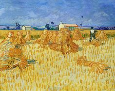 Harvest in Provence by Vincent van Gogh