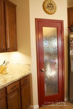 Maybe when we repaint the kitchen, we should think about a pop of color on the pantry door?