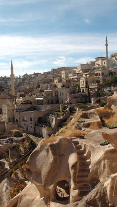 Uchisar (Üçhisar), Cappadocia #uchisar #cappadocia.  TURKEY