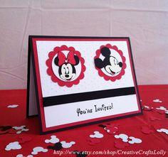 Mickey and Minnie Mouse Birthday by CreativeCraftsLolly on Etsy, $40.00
