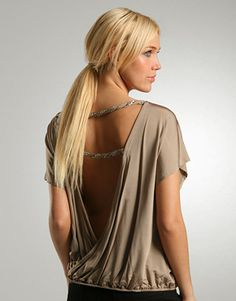 Taupe backless top - Great for a night out!