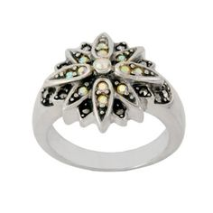 Sterling Silver Marcasite Crystal Flower Ring Amazon Curated Collection, http://www.amazon.com/dp/B0043XYUH4/ref=cm_sw_r_pi_dp_R5mprb1147A3K