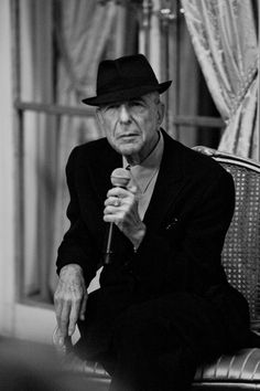 """ Leonard Cohen at the press conference for Old Ideas in January 2012 in Paris. Photo Copyright Yann Orhan / Sony Music "" The press event in Paris for the release of Old Ideas was held on January 16, 2012. From ""Leonard Cohen,"" Cosmopolis, updated..."