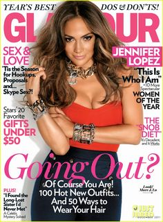LOVE THIS COVER!! Jennifer Lopez Covers 'Glamour' December 2011