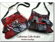 Upcycled necktie purse! | Purses, Bags, Totes, etc... | Pinterest