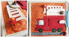 Rukodelki red / orange crafts: Notebooks for Fedor. Play School Activities, Sensory Activities, Book Activities, Binding Quiet Book, Orange Craft, Baby Sewing Projects, Fabric Toys, Books For Boys, Toddler Books