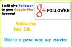 I will give 250 Follower to your Google Plus Account for $5