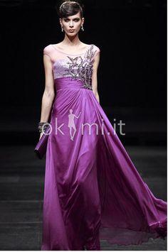 Evening dresses/Abito da sera Shiena Sheer in Chiffon moda Formale Tondo