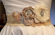 Bridal Sash - Wedding Sash - Bridal Belt - Bridesmaid Sash - Wedding Dress Sash. $79.00, via Etsy.