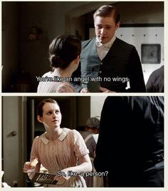HAHA love that they put a Parks and Recreation reference and mixed it with Downton Abbey! Downton Abbey Mary, Bbc, Pride And Prejudice, Period Dramas, Movies Showing, The Funny, Stupid Funny, Funny Pics, Best Tv