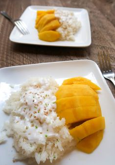 Has there ever been a dessert more delicious than Thai mango sticky rice? For me, this dish checks all the boxes. It's sweet, salty, tropical, and oh, so coconutty. If you want to make some easy and authentic Thai mango sticky rice, you will love this recipe! | Thai food | Thai dessert | Mango sticky rice recipe | Instant Pot Recipes | Vegan dessert | Coconut milk recipes |