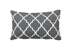 Amazon.com: Gray White Quatrefoil Pattern Cute Pillow Cover 16x24, Custom Rectangle Pillow Cases Covers: Bedding & Bath