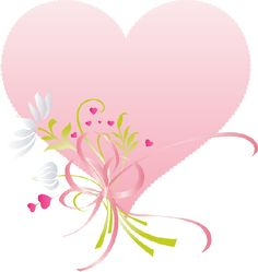 a lovely pink heart with flowers