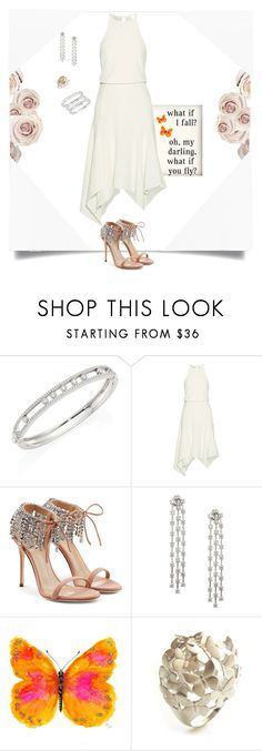 """""""What If You Fly?"""" by janetvera ❤ liked on Polyvore featuring Messika, Salsa, Halston Heritage, Giuseppe Zanotti, WALL, Les Rêveries d'Eve, By Lassen, party, polyvorecommunity and polyvorefashion"""