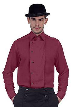 Steampunk Victorian Costume Ulysses SideButton Linen Shirt Pink XXXLarge