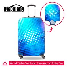 [Visit to Buy] Dispalang new 3D lifelike light dot travel lugage suitcase protective cover waterproof elastic trolley case bag covers for women #Advertisement
