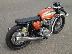 #Honda #CB450 #Bratstyle #Custom #Vintage #Motorcycle #DimeCityCycles Customers' Build - www.dimecitycycles.com