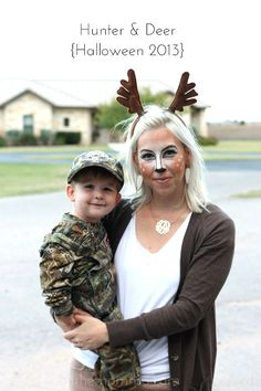 creative DIY Halloween costumes for moms Hunter and deer costume plus 14 more creative DIY mom costumesHunter and deer costume plus 14 more creative DIY mom costumes