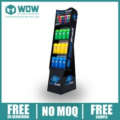 China Supplier Shaker Bottles Cardboard Floor Display Stand.  For more, please contact: info@wowpopdisplay.com