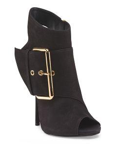 Giuseppe Zanotti-Made In Italy Leather Peep Toe Bootie