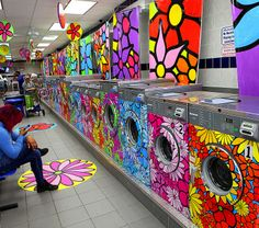 Portraits of Hope - Laundromat/Lavanderia makeover with Gain